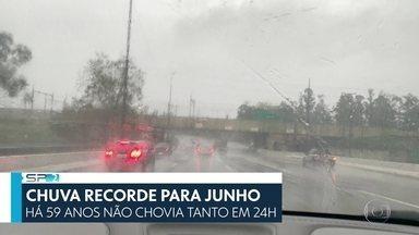 SP2 - Edição de Sábado, 27/06/2020 - Chuva forte provoca estragos em São Paulo. Rio Tietê transborda, teto do hospital de campanha do Anhembi fica danificado e cachoeira se forma no meio do Pavilhão de Exposições. E mais as notícias do dia.