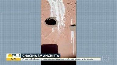 Chacina em Anchieta: menina de 10 anos entre os mortos - Criminosos chegaram em uma festa junina e fuzilaram as pessoas . 5 morreram, entre elas , uma menina de 10 anos.