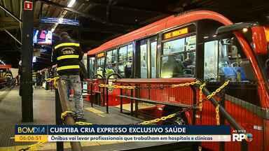 Curitiba cria linha Expresso Exclusivo Saúde - Ônibus vai levar pessoas que trabalham em hospitais e clínicas.