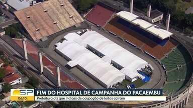 Prefeitura de SP fecha Hospital de Campanha do Pacaembu nesta segunda-feira - Gestão municipal atribuiu encerramento à queda nos índices de ocupação de leitos destinados ao tratamento de Covid-19.