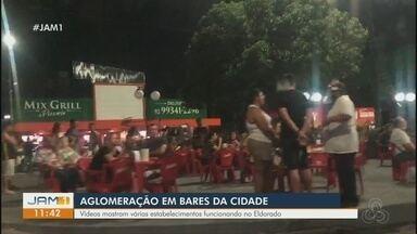 Aglomerações me bares de Manaus são registradas - Bares foram fechados.