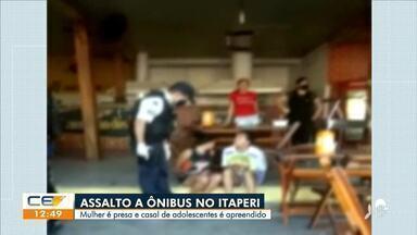 Três homens rendem passageiros em ônibus no bairro Itaperi, em Fortaleza - Saiba mais no g1.com.br/ce