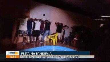 Polícia interrompe festa com 300 pessoas, em Sousa, PB - Evento gerou aglomeração durante a pandemia.