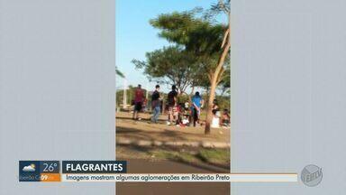 Moradores de Ribeirão Preto são flagrados aglomerados em meio à pandemia de Covid-19 - Flagrantes ocorreram na Ribeirânia, no Jardim Olhos D'Água e no Jardim Helena.