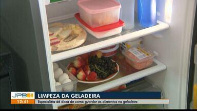 Especialista da PB dá dicas de como manter a geladeira limpa - Ela também fala sobre como armazenar os alimentos.
