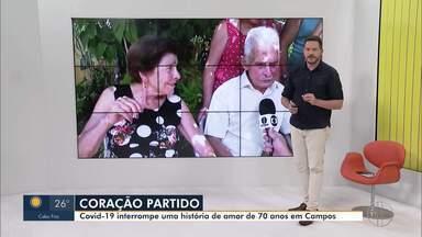 Idoso, de 97 anos, é mais uma vítima do coronavírus, em Campos - Seu Moacyr foi destaque no RJ 1 ao comemorar 70 anos de casado em dezembro de 2019