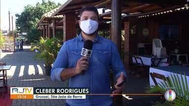 Primeiro fim de semana de flexibilização em São João da Barra - Bares e restaurantes puderam funcionar seguindo recomendações sanitárias