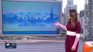 Semana terá predomínio de frio, na Grande São Paulo - Nova frente fria, na quarta-feira, vai abrir caminho para o ar polar, na quinta-feira. Confira os detalhes.