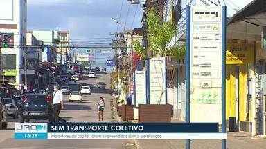 Serviço de transporte coletivo é paralisado 100% em Porto Velho - Trabalhadores reclamam do atraso na pagamento de dois salários