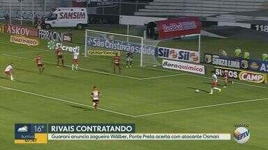 Guarani anuncia zagueiro Wálber, e Ponte Preta acerta com o atacante Osman - Equipes de Campinas (SP) buscam reforços para sequência de 2020.