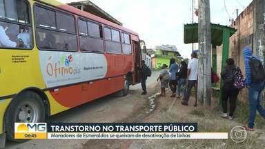 Pandemia está deixando passageiros esperando mais tempo - Moradores de Esmeraldas se queixam de desativação de linhas.