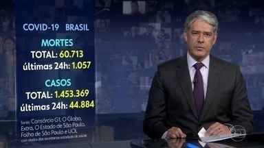 Brasil tem 1.057 mortes por coronavírus em 24 horas, mostra consórcio da imprensa - O consórcio de veículos de imprensa apurou hoje que o número de brasileiros mortos pela Covid-19 ultrapassou mais um marco trágico: são 60.713.