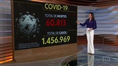 Brasil tem 60.813 mortes por coronavírus, diz consórcio - O Brasil tem 60.813 mortes por coronavírus confirmadas até as 8h desta quinta-feira (2), aponta um levantamento feito pelo consórcio de veículos de imprensa a partir de dados das secretarias estaduais de Saúde.