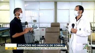 Estoque de sangue cai no Hemoce de Sobral - Saiba mais em g1.com.br/ce
