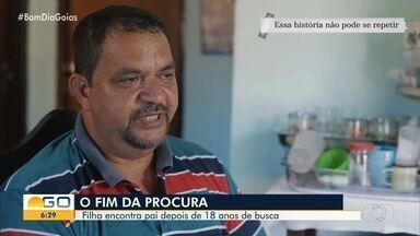 Após 18 anos sem notícias, pai e filha voltam a se falar e planejam reencontro em Goiás - Ele mora em Anápolis e ela ficou no Pará.