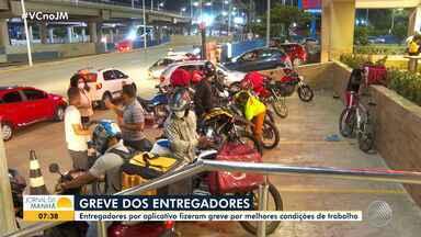 Conheça a dura rotina de pessoas que trabalham prestando serviço de entregas - Na quarta-feira (1), entregadores de todo o Brasil fizeram uma paralisação e cobraram melhorias nas condições de trabalho.
