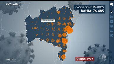 Bahia tem mais de três mil novos casos de coronavírus em 24 horas - A doença já causou a morte de mais de 1900 pessoas em 168 municípios baianos.