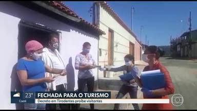 Tiradentes fechada para o turismo - Decreto proíbe visitantes.