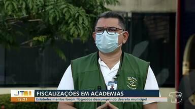 Em Santarém, academias foram flagradas descumprindo decreto municipal - Coordenador da Divisa explica restrições que devem ser obedecidas por estabelecimentos.