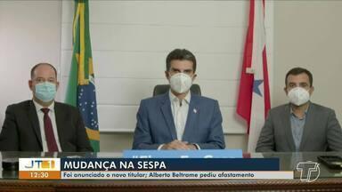 Governador Helder Barbalho anuncia licença de Secretário de Saúde, Alberto Beltrame - Secretário teria pedido o afastamento. Investigações apontam irregularidades na compra de equipamentos e produtos para o combate à Covid-19.