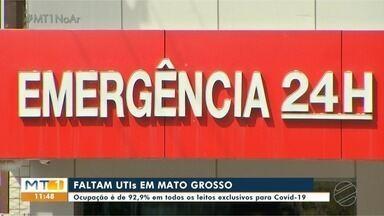 Covid-19: faltam leitos de UTIS em Mato Grosso - Covid-19: faltam leitos de UTIS em Mato Grosso.