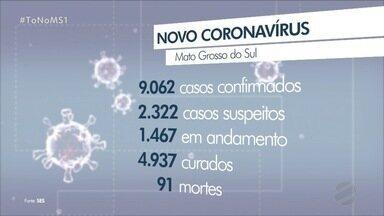 MS registra mais 6 de COVID e número de vítimas chega 91 - Capital registrou 3 mortes, Dourados 2 e Guia Lopes uma vítima