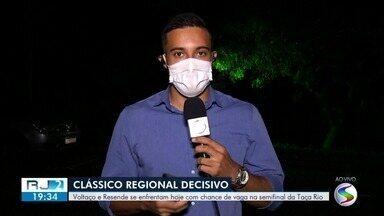Voltaço e Resende fazem clássico no Maracanã por vaga na semifinal da Taça Rio - Todos os testes de Covid-19 feitos nos clubes na tarde desta quarta-feira deram negativo.