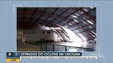 Defesa Civil monitora áreas de risco em Criciúma - Defesa Civil monitora áreas de risco em Criciúma