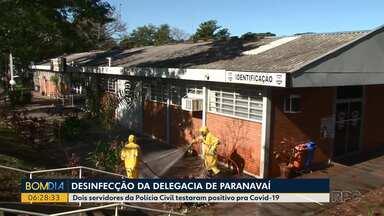 Delegacia de Paranavaí é desinfectada - Dois policiais civis da unidade foram diagnosticados com coronavírus.