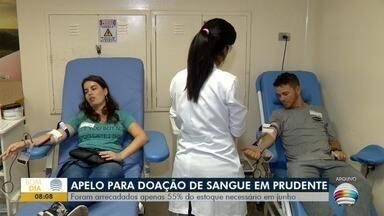 Campanha arrecada somente metade do estoque de sangue necessário - Bancos de sangue precisam de doações.