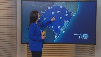 Sábado (4) pode ter geada e frio intenso no amanhecer no RS - Ventos seguem fortes no litoral. Domingo deve ter retorno da chuva no Estado.