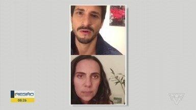 Atores fazem live encenando o fim de um relacionamento - Uma das atrizes da trama é a santista Déo Patrício.