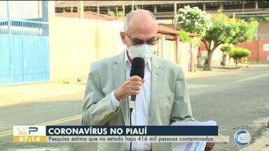 Pesquisa estima mais de 400 mil infectados no Piauí - Pesquisa estima mais de 400 mil infectados no Piauí