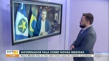 Governador Mauro Mendes fala sobre medidas de combate à Covid-19 - Governador Mauro Mendes fala sobre medidas de combate à Covid-19.
