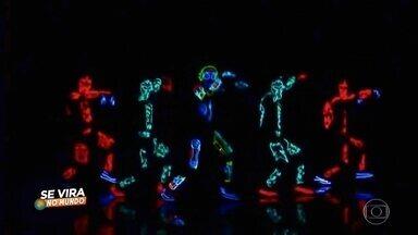 Domingão apresenta Se Vira No Mundo - Confira atrações como: cachorro no basquete, pinturas corporais, malabarismo, estátuas vivas, dança iluminada e muito mais