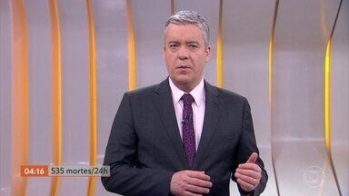 Brasil confirma 535 mortes por Covid-19 em 24 horas, diz consórcio de veículos de imprensa - O número total de vítimas subiu para 64,9 mil.