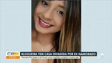 Blogueira tem casa invadida por ex-namorado no município de Granja, no interior do Estado - Saiba mais no g1.com.br/ce
