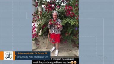 Idosa recebe feliz aniversário durante ES1 de Linhares - Veja.