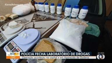 Polícia fecha laboratório de drogas em Goiânia - Três pessoas foram presas.