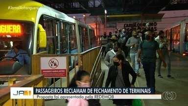 Propostra da RedeMod de fechar terminais deve ser analisada nos próximos dias, em Goiânia - Proposta prevê o fechamento de 20 terminais de ônibus com o intuito de evitar aglomerações.