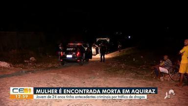 Mulher é assassinada a tiros em Aquiraz - Saiba mais no g1.com.br/ce
