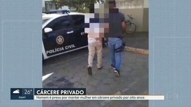 Homem é preso acusado de manter a mulher em cárcere privado por 8 anos no Rio - A polícia recebeu a foto de um bilhete da vítima pedindo ajuda.