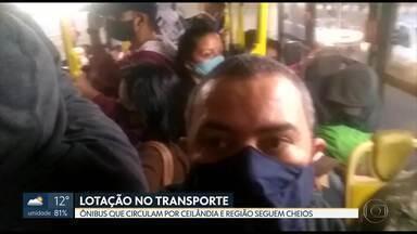 Ônibus que circulam pela região de Ceilândia continuam cheios - Passageiros reclamam da superlotação no trasporte público e do risco de contaminação pelo coronavírus.