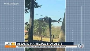 Homem morre em confrontro com a polícia após roubar carro, em Goiânia - Crime aconteceu na região noroeste.