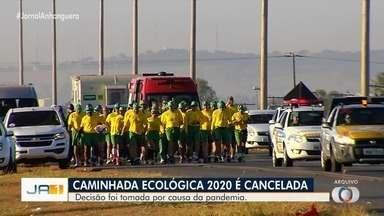 Caminhada ecológica 2020 é cancelada por conta da pandemia de coronavírus - Caminhada, que saí de Trindade e termina em Aruanã, completaria 29 anos.