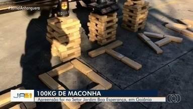 Polícia apreende 100kg de maconha, em Goiânia - Droga foi encontrada no setor Jardim Boa Esperança.