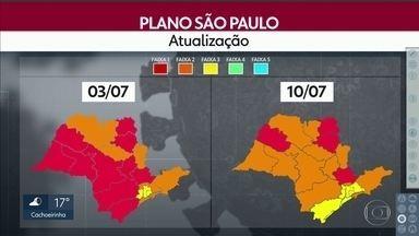 SP2 - Edição de sexta-feira, 10/07/2020 - Prefeituras anunciam mais flexibilização para Osasco e Guarulhos. Dois empresários foram presas em operação contra lavagem de dinheiro na capital.