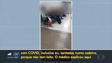 HRAN está com lotação máxima de leitos de UTI - Pacientes com COVID-19, que procuraram atendimento no hospital, tiveram que esperar no corredor.
