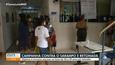 Vacinação contra o Sarampo será retomada nesta segunda-feira - Quase 1,5 milhão de pessoas serão vacinadas em Salvador.