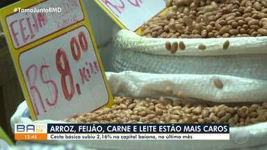 Reajuste: Preços dos produtos da cestá básica sofrem aumento em Salvador - Mesmo com alta de 2,16%, a capital baiana tem a cesta mais barata do país.